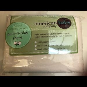 ❤️3/$30 Pack-n-Play Crib Sheet Organic Cotton AmBa